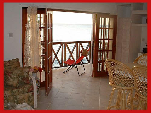 Each apartment has its own private balcony acessed from the living area.